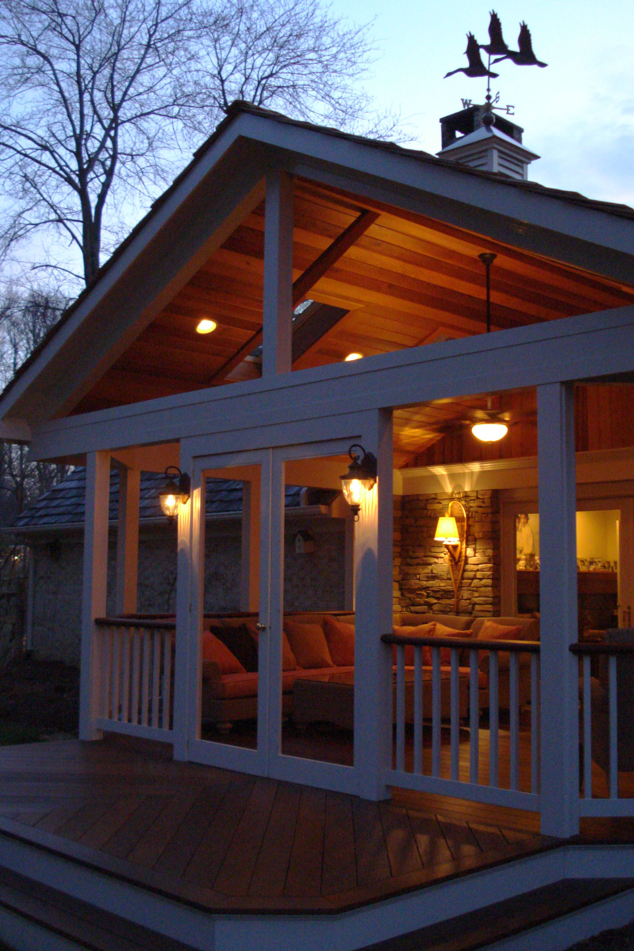 Striking Covered Patio with Gable Roof