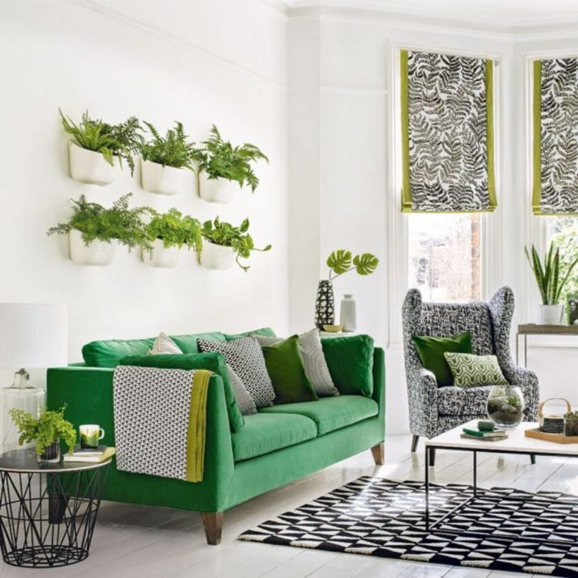 Modern Botanical Style of Green Lounge