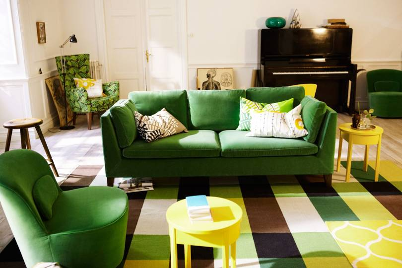 Green IKEA Sofa for Lounge