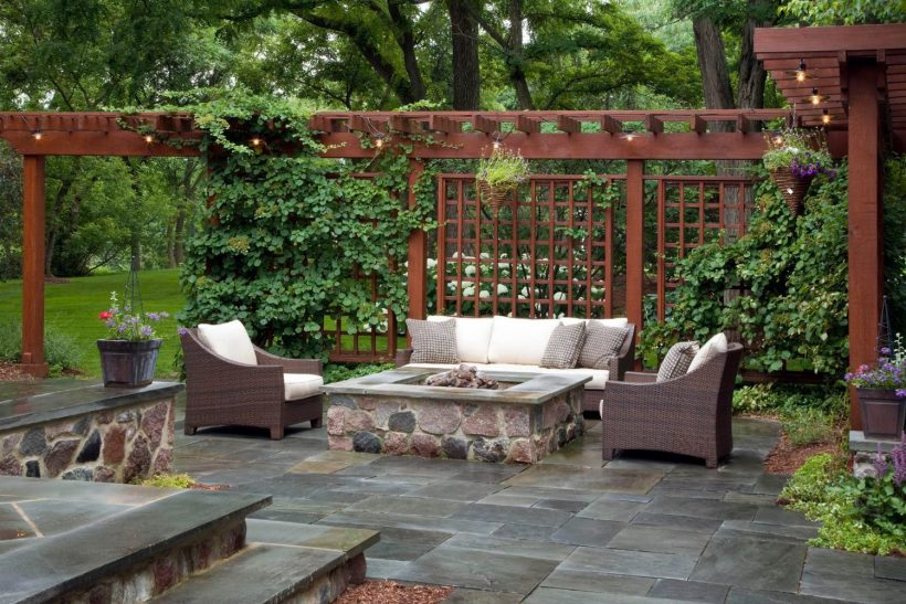Pavers and Pergola for Backyard Patio
