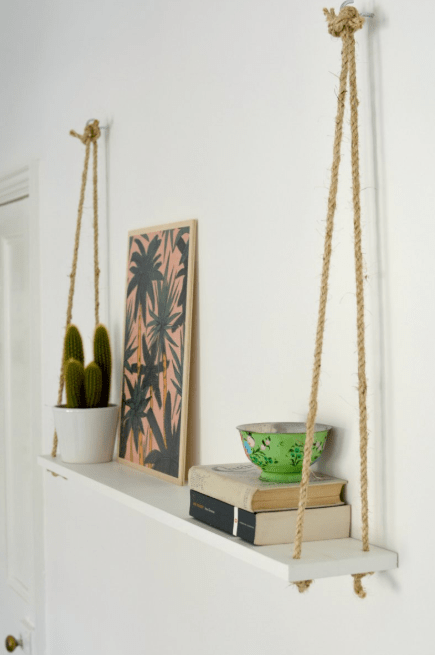 Floating Shelf with Ropes