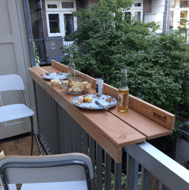 Install a Floating Shelf on Balcony